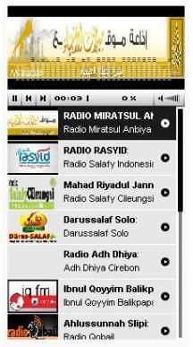 List Radio Ahlus Sunnah